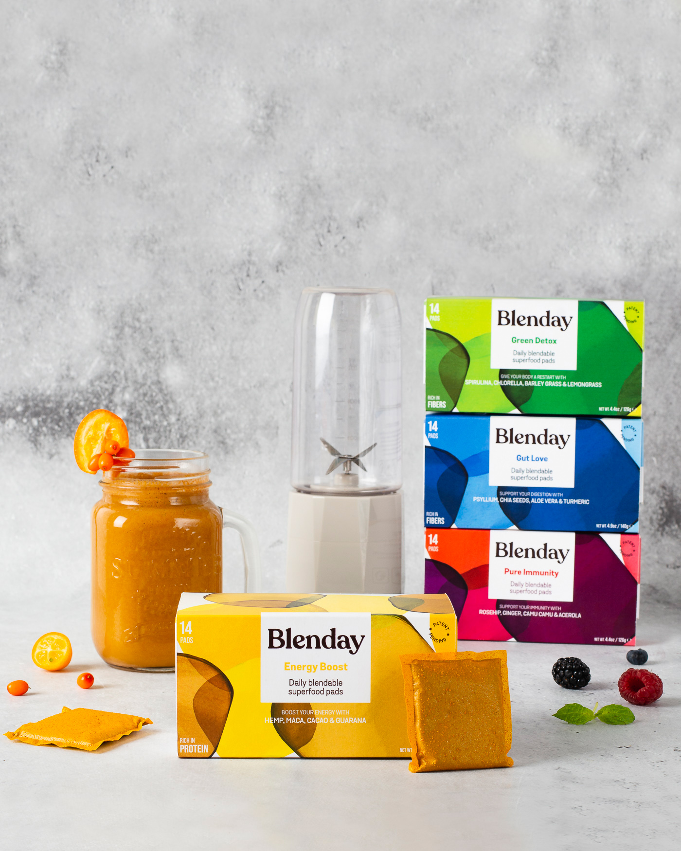 Blenday Blendable Superfood Pads to Boost Your Smoothies
