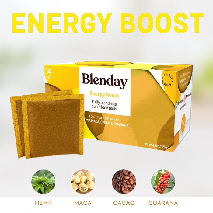 Blenday Energy Boost Blendable Superfood Pads to Boost Your Smoothies