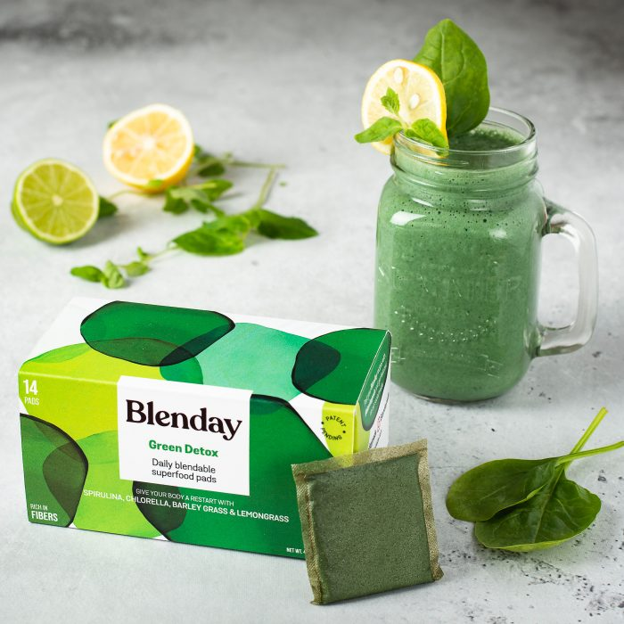 Blenday Green Detox Blendable Superfood Pads to Boost Your Smoothies